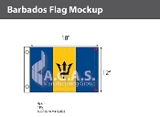 Barbados Flags 12x18 inch
