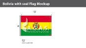 Bolivia Flags 8x12 foot (with seal)