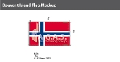 Bouvent Island Flags 3x5 foot