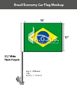 Brazil Car Flags 12x16 inch Economy