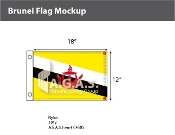 Brunei Flags 12x18 inch