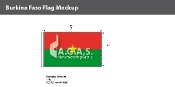 Burkina Faso Flags 3x5 foot