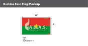 Burkina Faso Flags 6x10 foot
