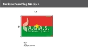 Burkina Faso Flags 8x12 foot