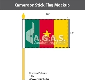 Cameroon Stick Flags 12x18 inch