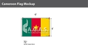 Cameroon Flags 4x6 foot