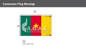 Cameroon Flags 8x12 foot