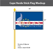 Cape Verde Stick Flags 12x18 inch