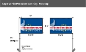 Cape Verde Car Flags 10.5x15 inch Premium