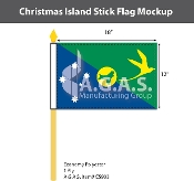 Christmas Island Stick Flags 12x18 inch