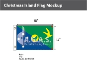 Christmas Island Flags 12x18 inch