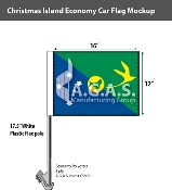 Christmas Island Car Flags 12x16 inch Economy