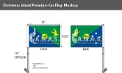 Christmas Island Car Flags 10.5x15 inch Premium