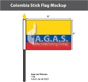 Colombia Stick Flags 4x6 inch