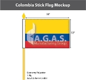 Colombia Stick Flags 12x18 inch