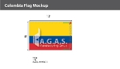 Colombia Flags 8x12 foot