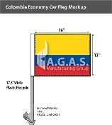 Colombia Car Flags 12x16 inch Economy