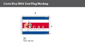 Costa Rica Flags 2x3 foot (with seal)