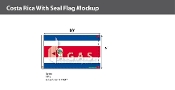 Costa Rica Flags 6x10 foot (with seal)