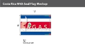 Costa Rica Flags 8x12 foot (with seal)