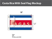 Costa Rica Flags 12x18 inch (no seal)