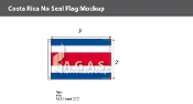 Costa Rica Flags 2x3 foot (no seal)