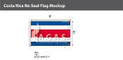 Costa Rica Flags 5x8 foot (no seal)