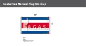 Costa Rica Flags 6x10 foot (no seal)