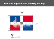 Dominican Republic Flags 12x18 inch (with seal)