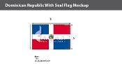 Dominican Republic Flags 2x3 foot (with seal)
