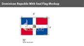 Dominican Republic Flags 4x6 foot (with seal)
