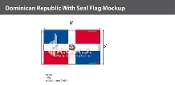 Dominican Republic Flags 5x8 foot (with seal)