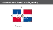 Dominican Republic Flags 8x12 foot (with seal)