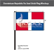 Dominican Republic Stick Flags 4x6 inch (no seal)