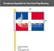 Dominican Republic Stick Flags 12x18 inch (no seal)