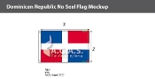 Dominican Republic Flags 2x3 foot (no seal)
