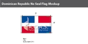 Dominican Republic Flags 3x5 foot (no seal)