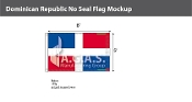 Dominican Republic Flags 5x8 foot (no seal)