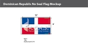 Dominican Republic Flags 6x10 foot (no seal)