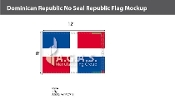 Dominican Republic Flags 8x12 foot (no seal)