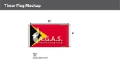 East Timor Flags 6x10 foot