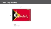 East Timor Flags 8x12 foot