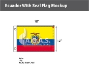 Ecuador Flags 12x18 inch (with seal)