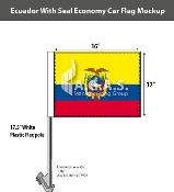 Ecuador Car Flags 12x16 inch Economy (with seal)