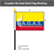 Ecuador Stick Flags 4x6 inch (no seal)