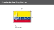 Ecuador Flags 4x6 foot (no seal)