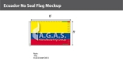 Ecuador Flags 5x8 foot (no seal)