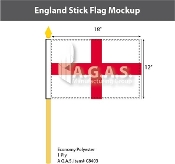 England Stick Flags 12x18 inch