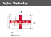 England Flags 12x18 inch
