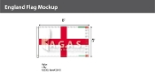 England Flags 5x8 foot